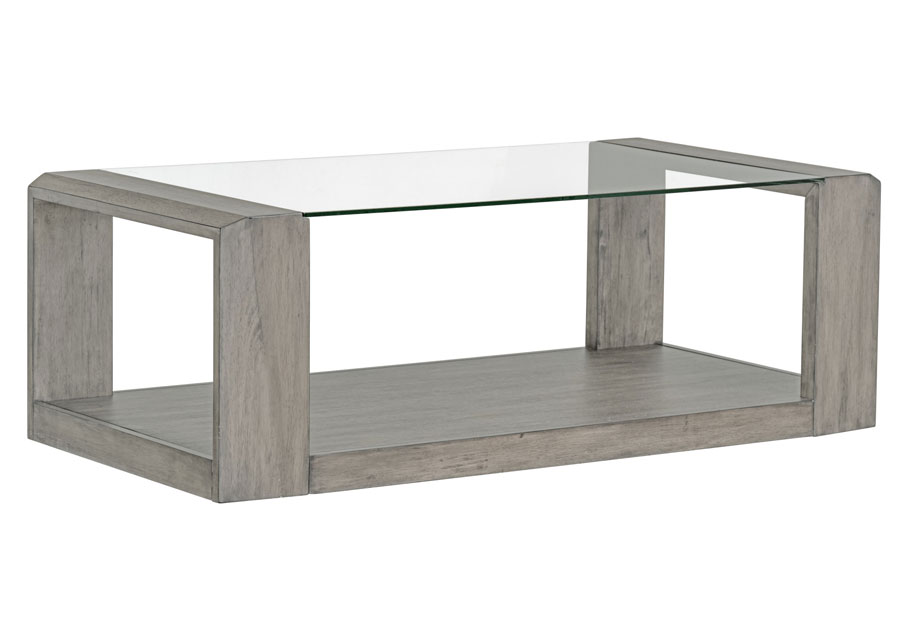 Standard Sonata Grey Cocktail Table With Glass