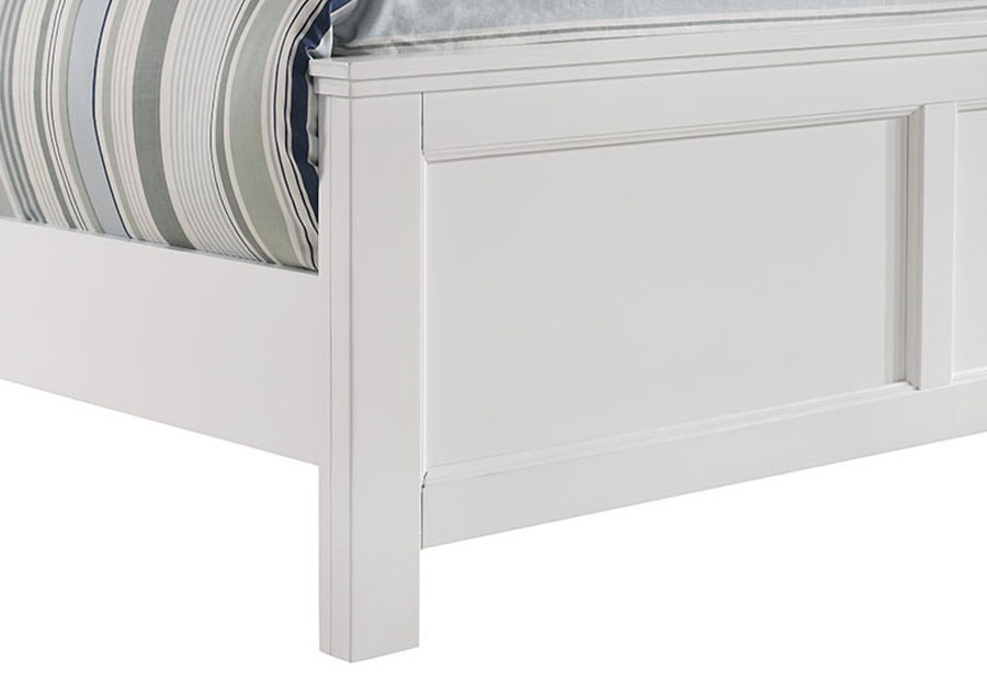 New Classic Andover White Queen Headboard, Footboard and Rails