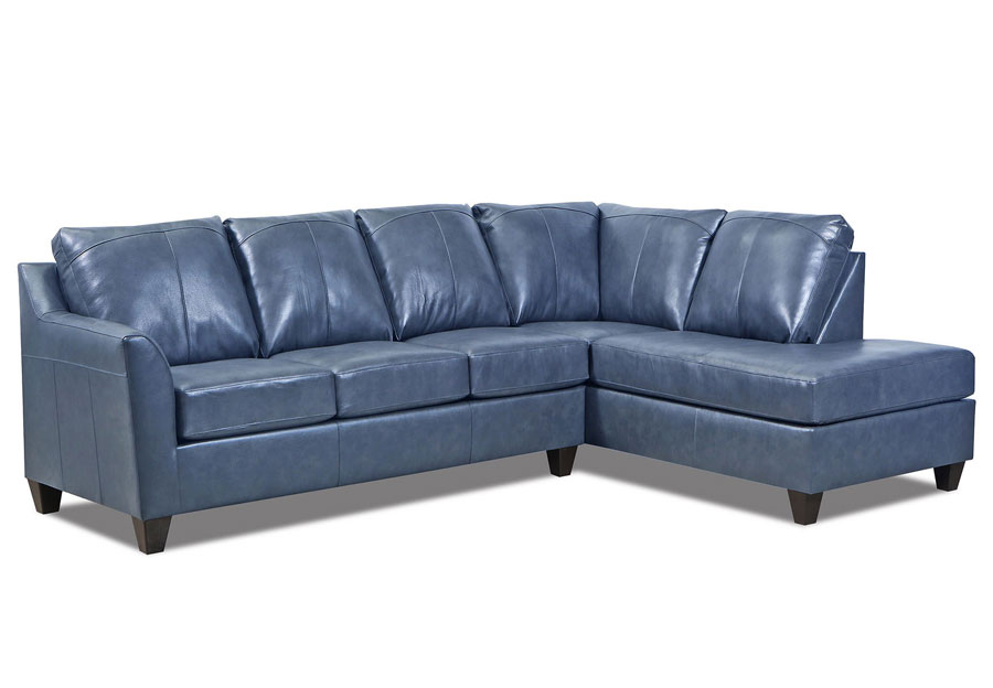 Lane Avery Shale Leather Match Two Piece Sectional