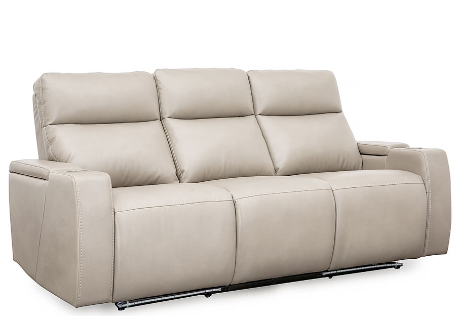 Cheers Lonzo Transformer Oyster Dual Power Reclining Sofa With Dropdown Center Console