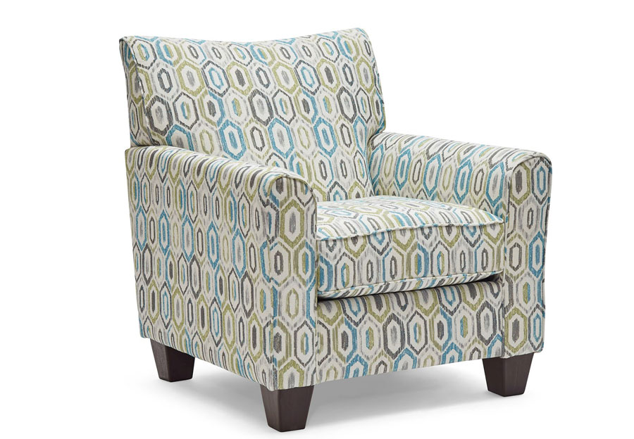 Lane Soman Turquoise Accent Chair