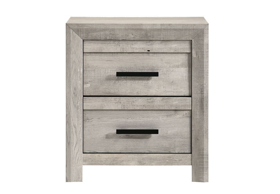 Elements Ellen White Two Drawer Nightstand