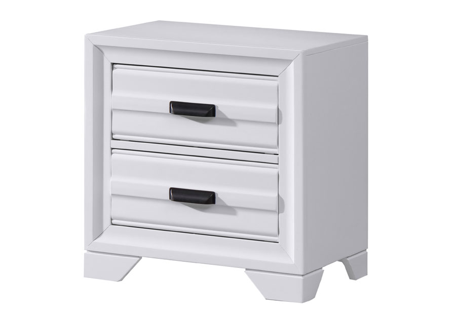 Lifestyles Belcourt White Two Drawer Nightstand