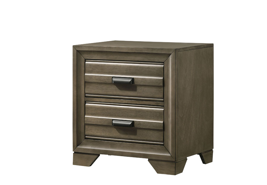 Lifestyle Belcourt Stone Grey Two-Drawer Nightstand