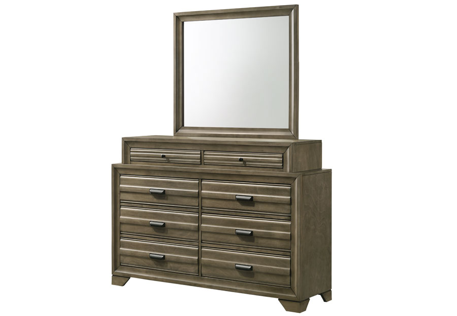 Lifestyle Belcourt Stone Grey Eight-Drawer Dresser