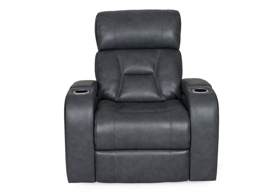 Synergy Luxe Transformer Grey Dual Power Recliner Leather Match