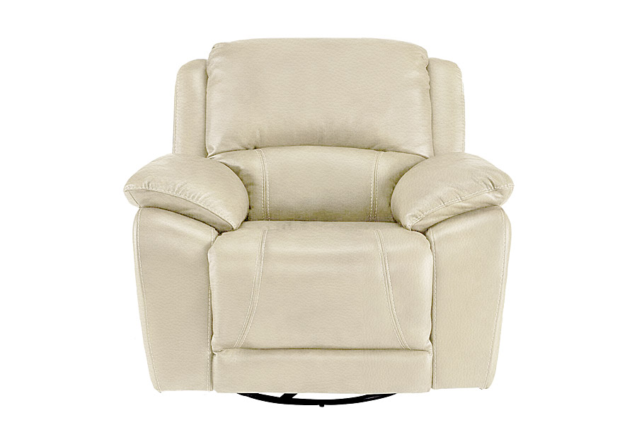 Cheers Princeton Bone Leather Match Dual Power Recliner