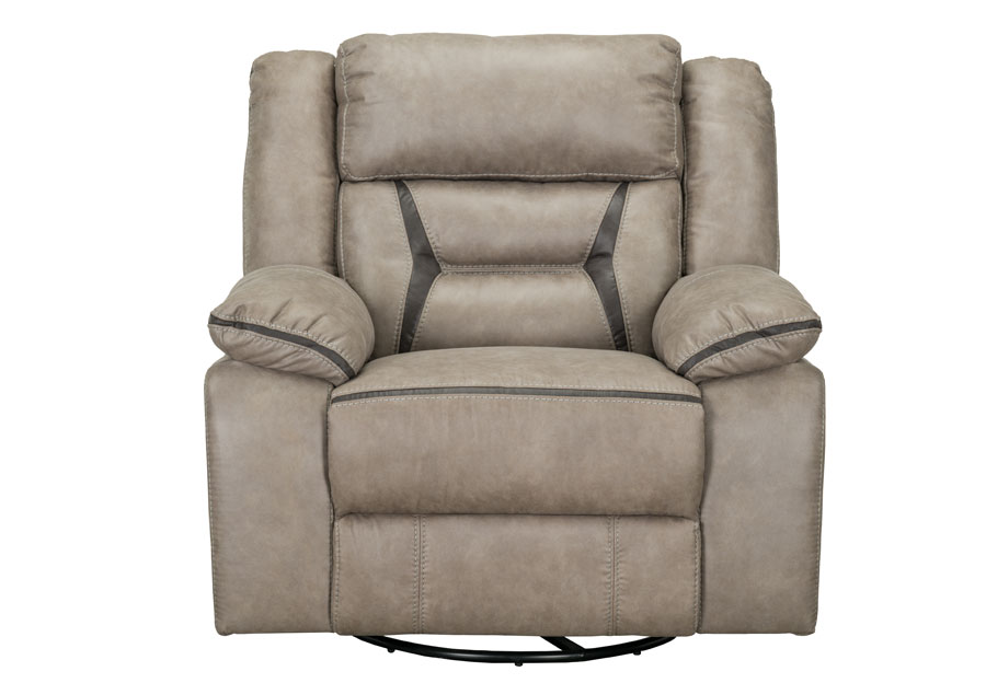 Lane Engage Taupe Swivel Glider Recliner