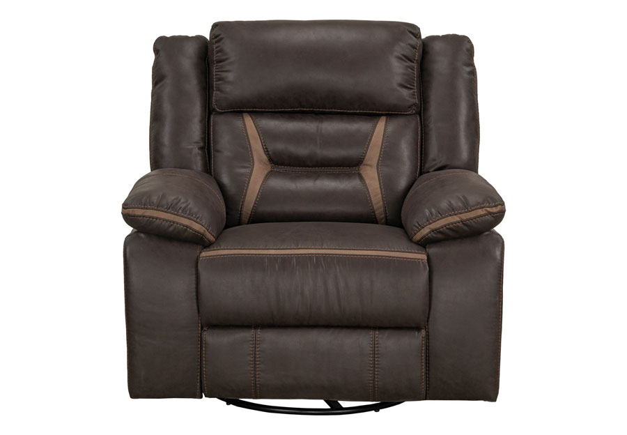 Lane Engage Chocolate Swivel Glider Recliner
