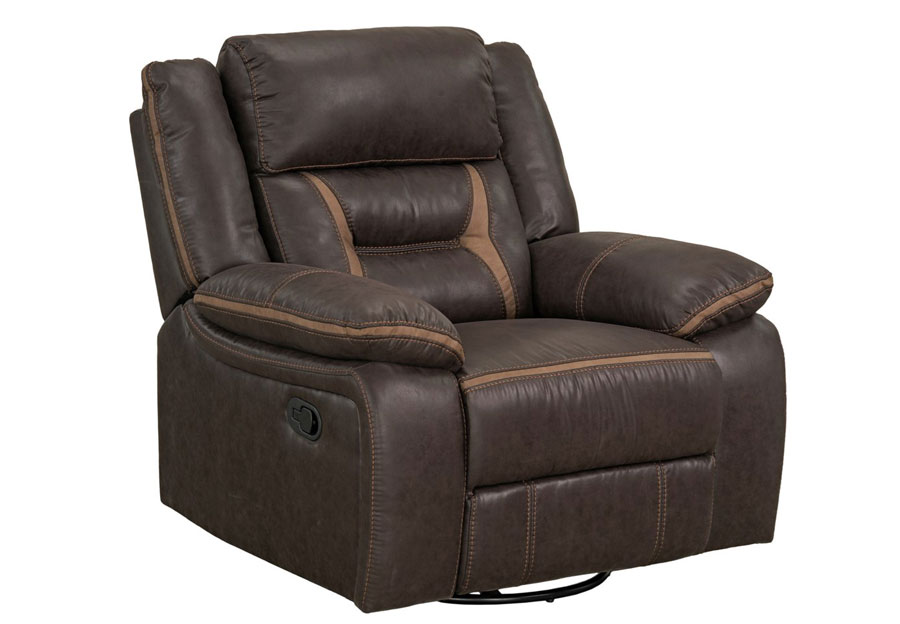 Lane Engage Chocolate Dual Power Swivel Glider Recliner