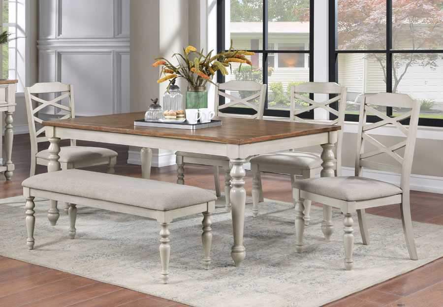 New Classic Jennifer Dining Table with Four Side Chairs