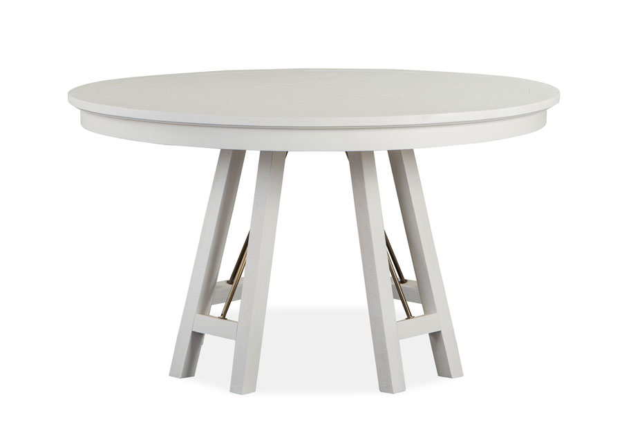 Magnussen Heron Cove White 52 Inch Round Dining Table
