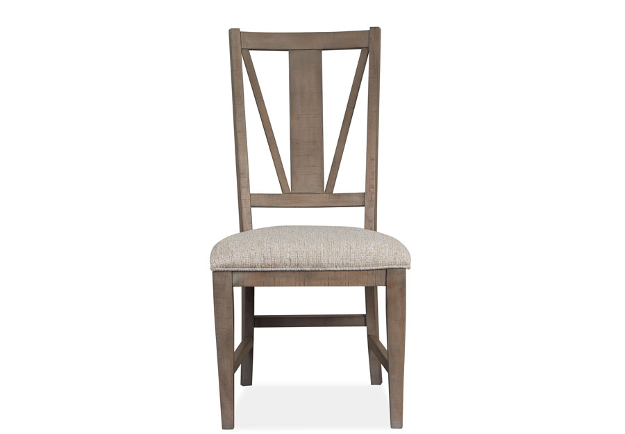 Magnussen Paxton Place Pewter Dining Side Chair with Upholstered Seat