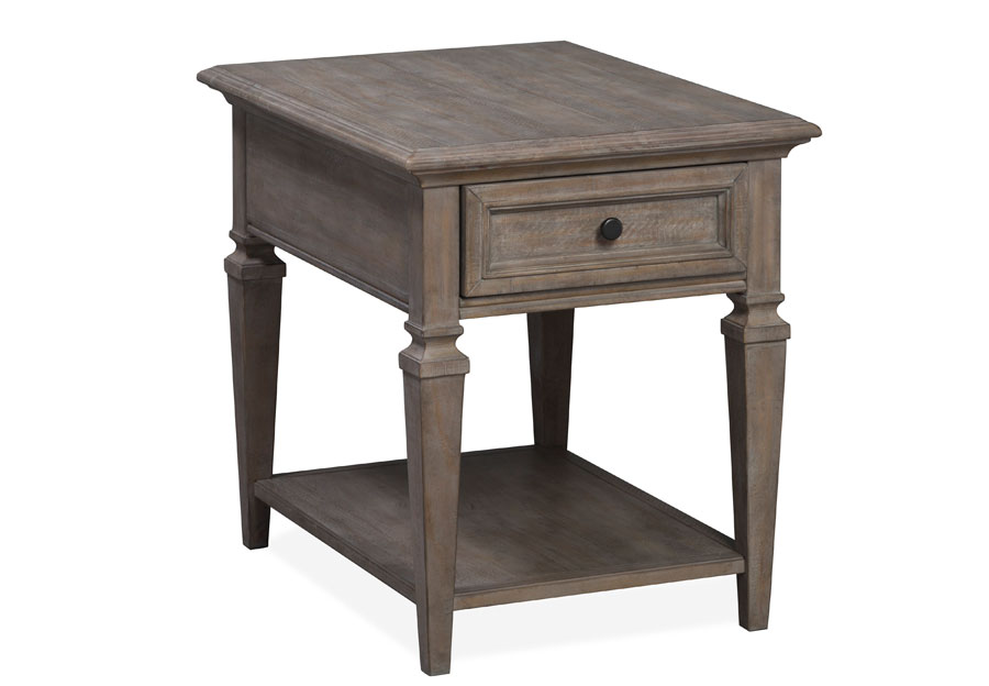 Magnussen Lancaster Pewter Rectangular End Table