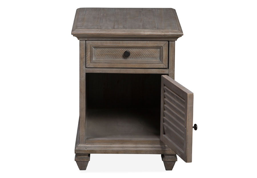 Magnussen Lancaster Pewter Chairsaide End Table