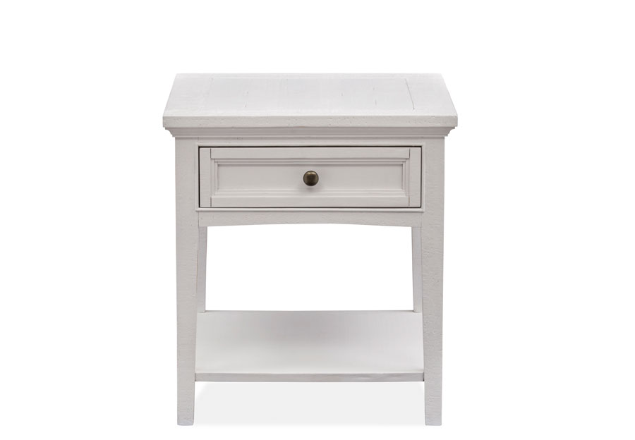 Magnussen Heron Cove White Rectangular End Table