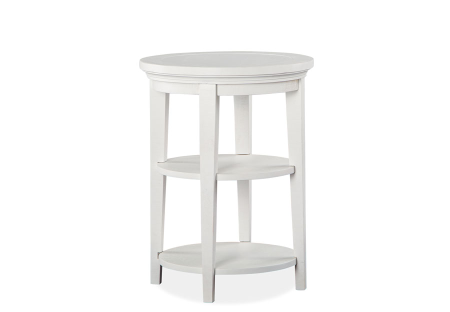 Magnussen Heron Cove White Round Accent Table