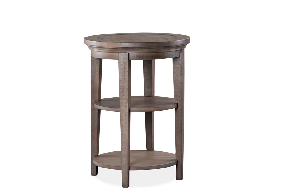 Magnussen Paxton Place Pewter Round Accent Table