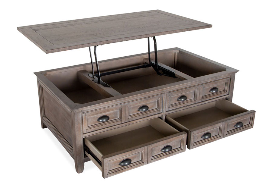 Magnussen Paxton Place Pewter Lift Top Storage Cocktail Table
