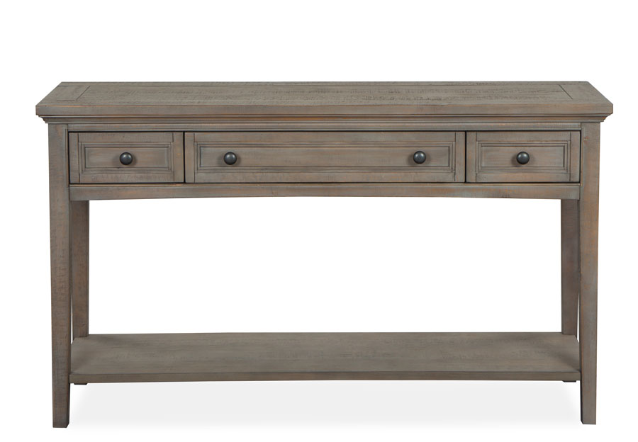 Magnussen Paxton Place Pewter Rectangular Sofa Table