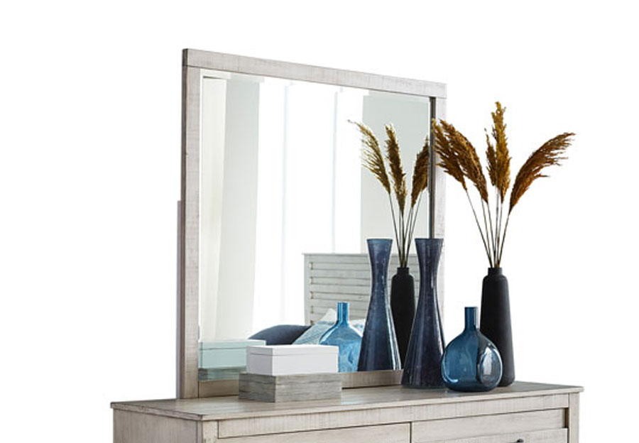 Hillsdale Villa Distressed White Mirror