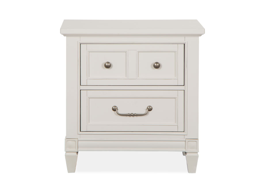 Magnussen Willowbrook White Two-Drawer Nightstand