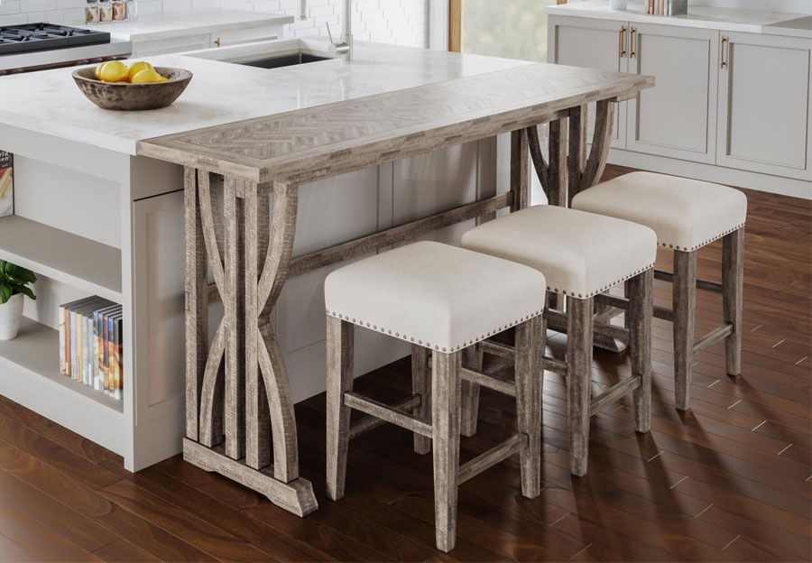 Jofran Fairview Ash Counter Height Dining Table with Three Stools