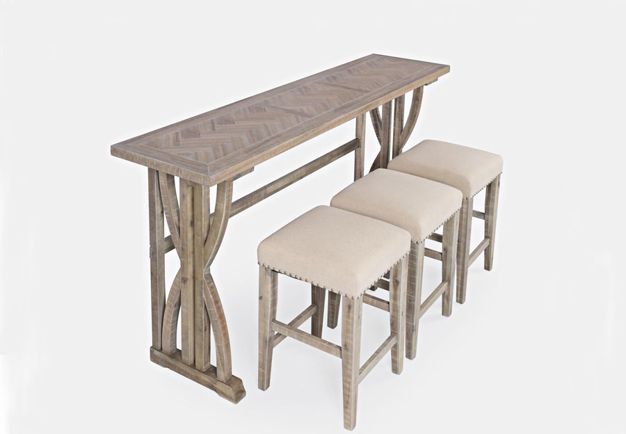 Jofran Fairview Ash Counter-Height Dining Table with Three Stools
