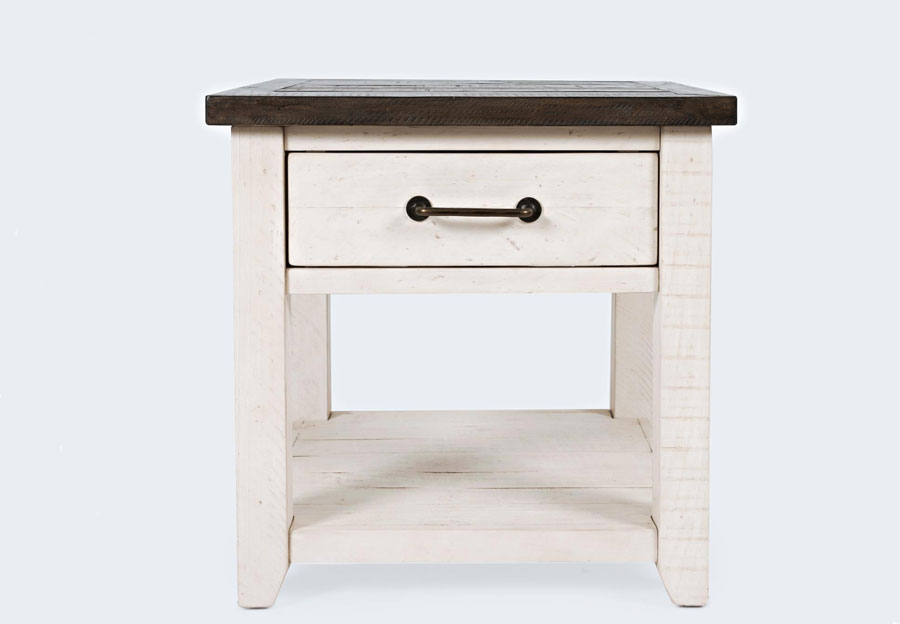 Jofran Madison County Harris Vintage White End Table