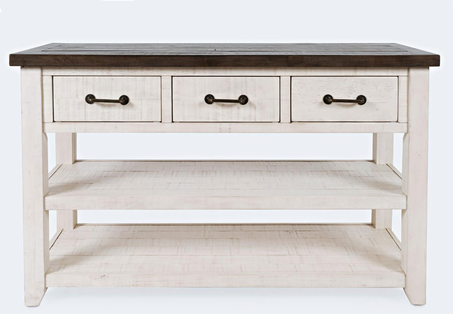 Jofran Madison County Harris Vintage White Console Table