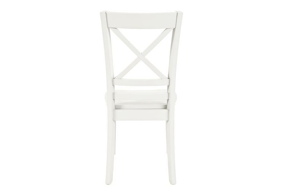 Jofran Simplicity Paperwhite X Back Side Chair