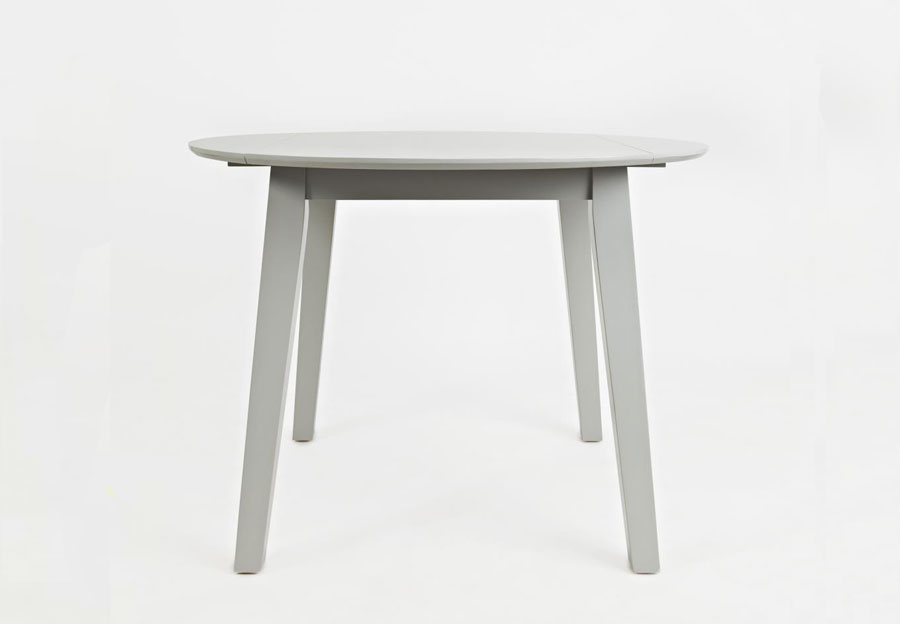 Jofran Simplicity Dove Round Dropleaf Dining Table