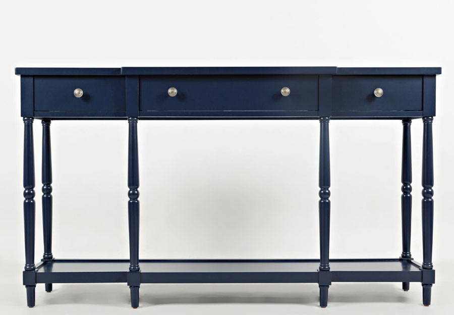 Jofran Stately Home Navy Breakfront Console