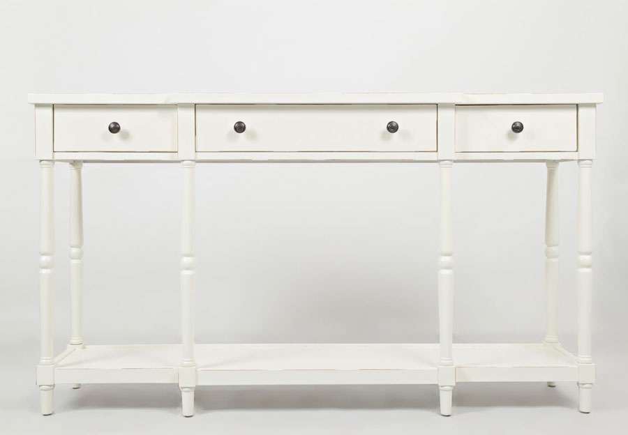 Jofran Stately Home Antique White Breakfront Console