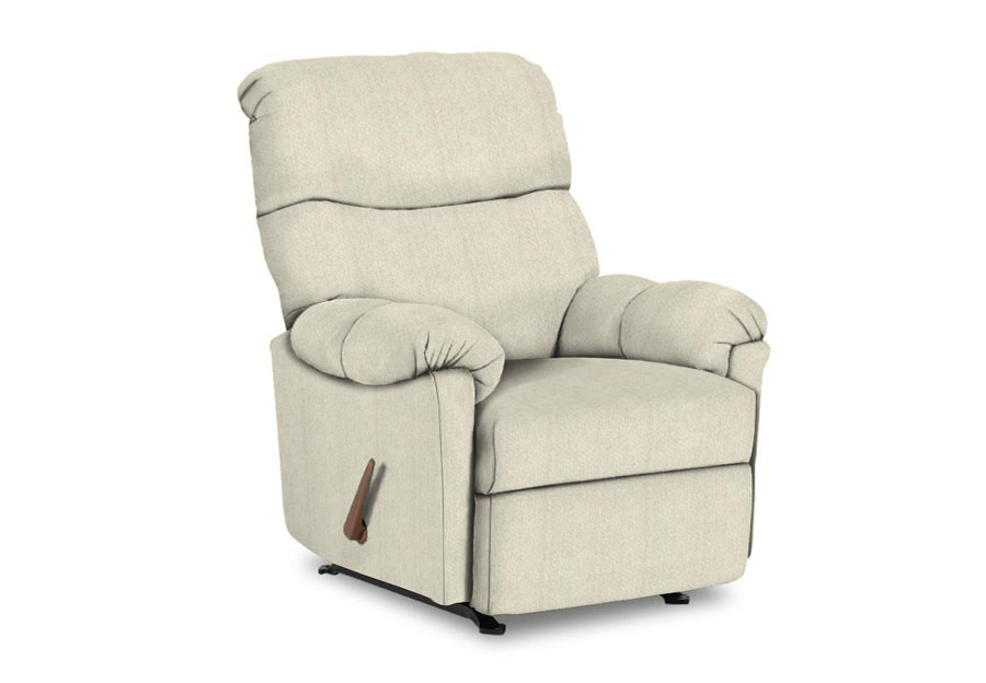 Best Balmore Ivory Swivel Glider Recliner