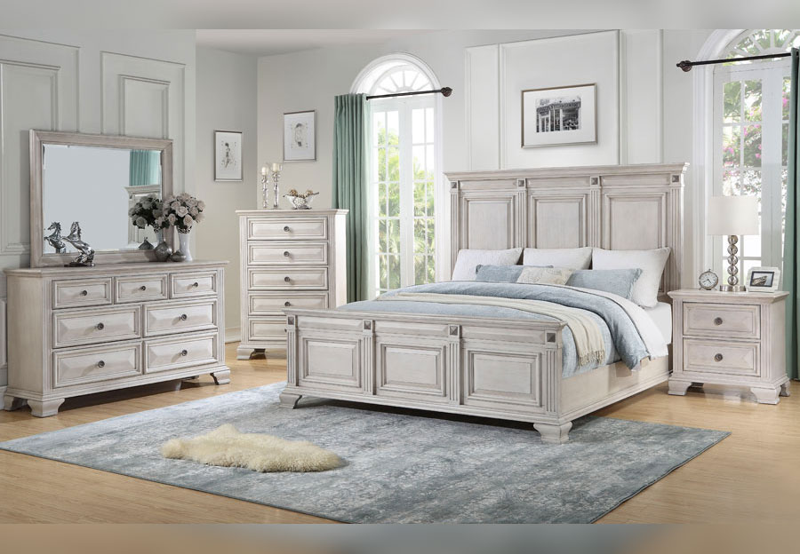 Lifestyle Passages Light King Bed, Dresser and Mirror