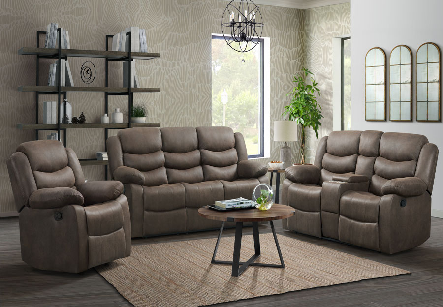 Lane Expedition Java Manual Reclining Sofa and Loveseat