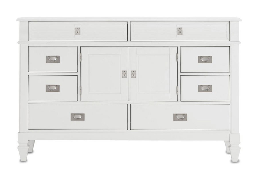Lifestyle Compass White Eight-Drawer Dresser