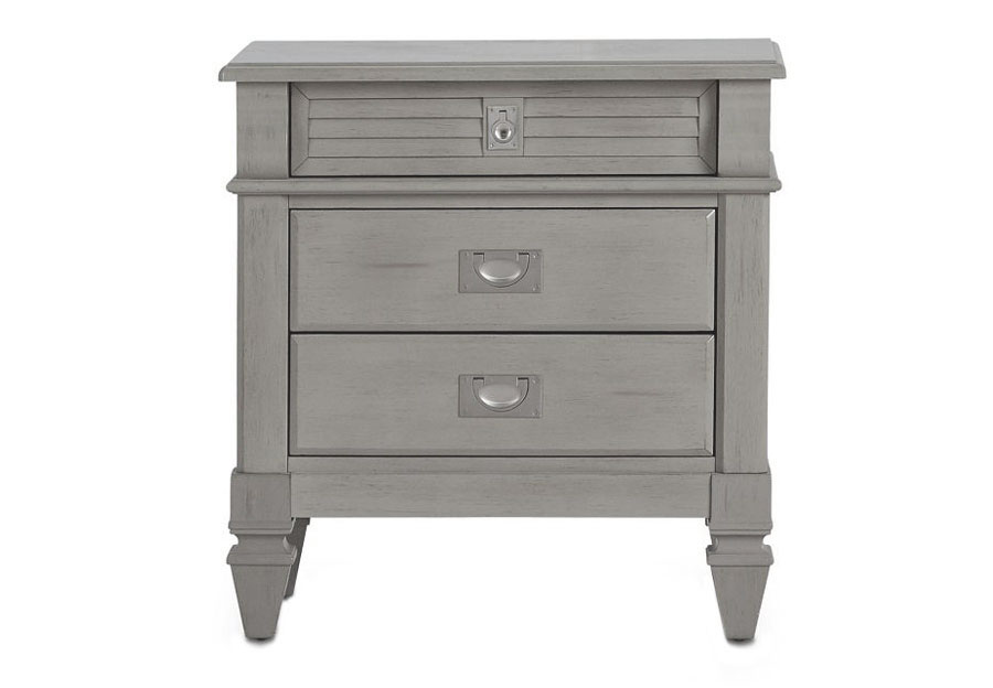 Lifestyle Compass Grey Three-Drawer Nightstand