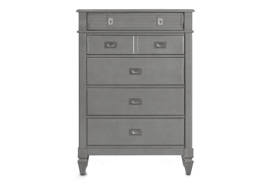 Lifestyle Compass Grey Five-Drawer Chest
