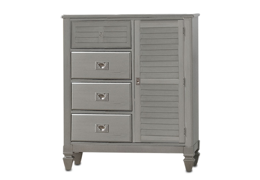 Lifestyle Compass Grey Four-Drawer Door Chest