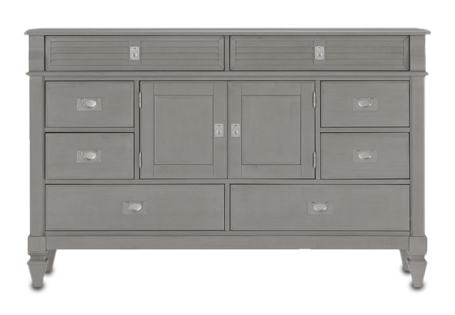 Lifestyle Compass Grey Eight-Drawer Dresser
