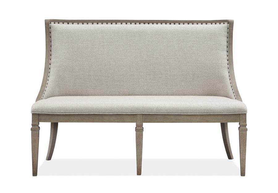 Magnussen Lancaster Bench with Upholstered Seat and Back