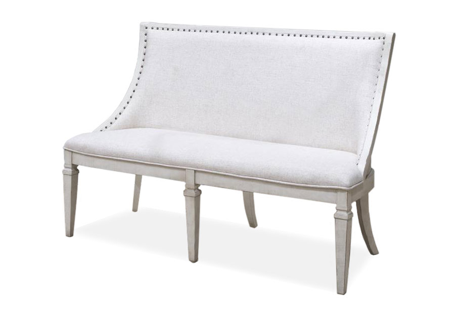 Magnussen Newport Bench with Upholstered Seat and Back