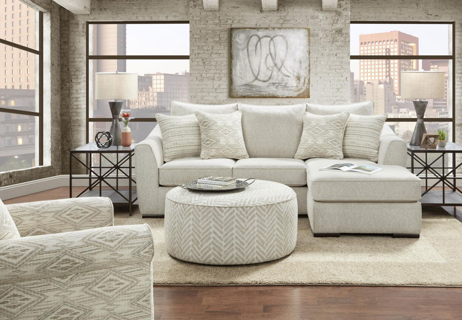 Fusion Vibrant Vision Oatmeal Sofa with Chaise