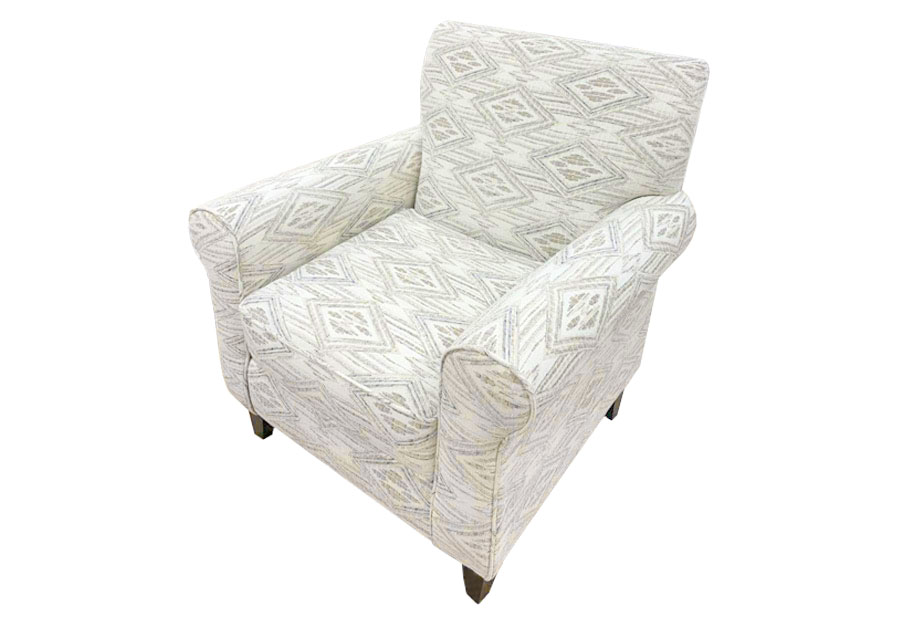 Fusion Western Front Blanco Accent Chair
