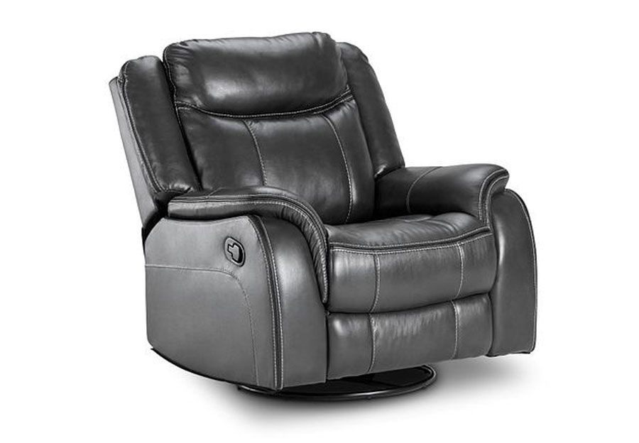 Lane Carrera Grey Swivel Glider Recliner