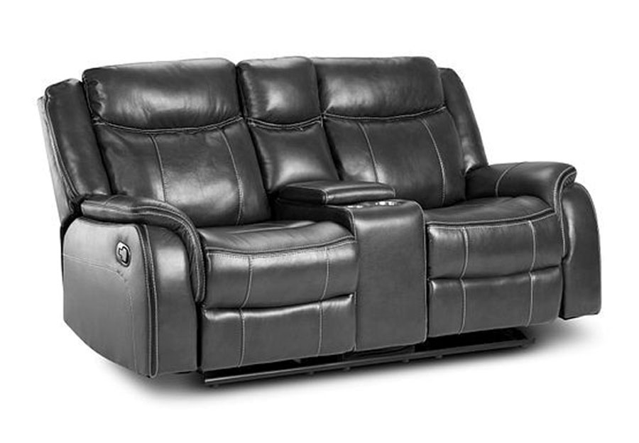 Lane Carrera Grey Power Glider Reclining Loveseat with Center Console