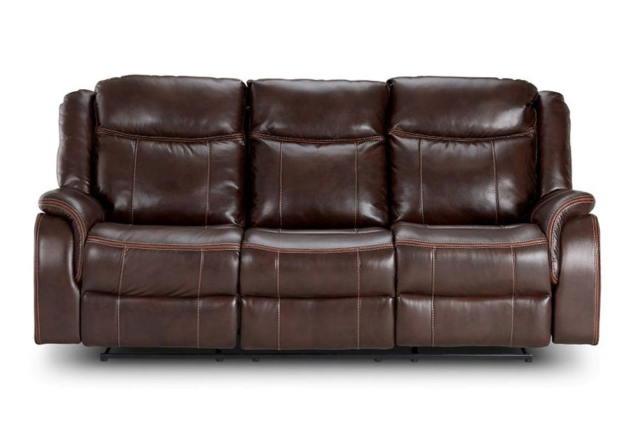 Lane Carrera Brown Glider Reclining Sofa with Dropdown Table