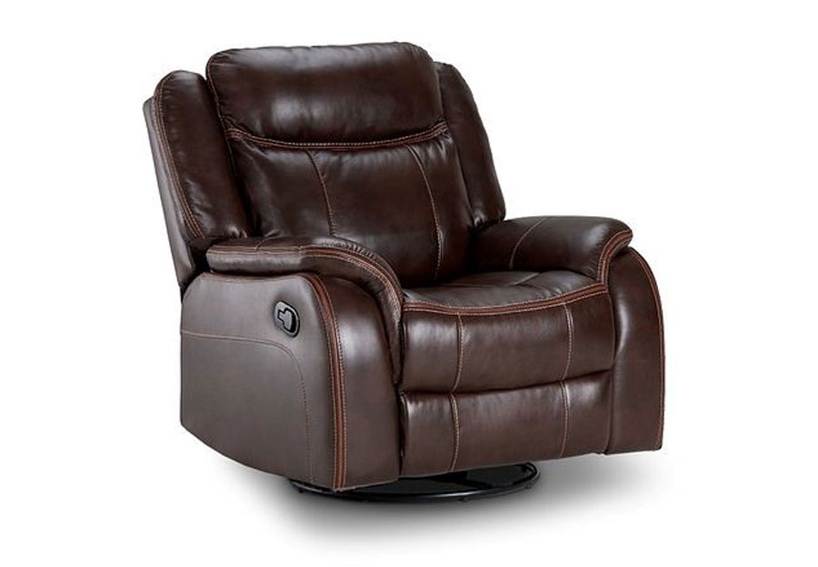 Lane Carrera Brown Swivel Glider Recliner